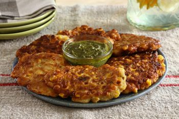 Crunchy Corn Fritters